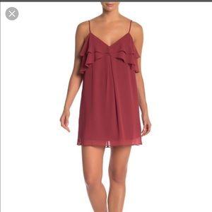 BCBG ruffle cami dress